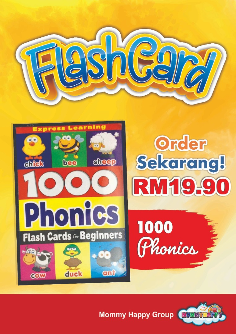 FC28-FLASH CARD BEGINNER 1000 PHONICS
