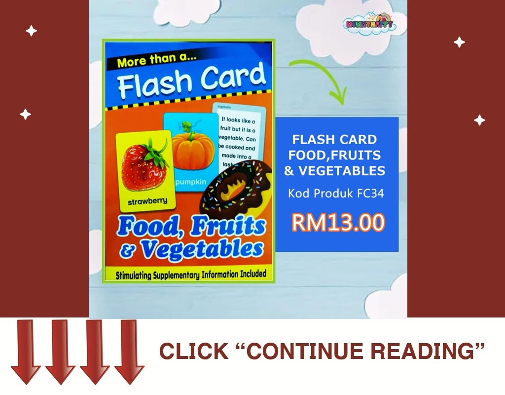 FC34-FLASH CARD FOOD, FRUITS &                VEGETABLES