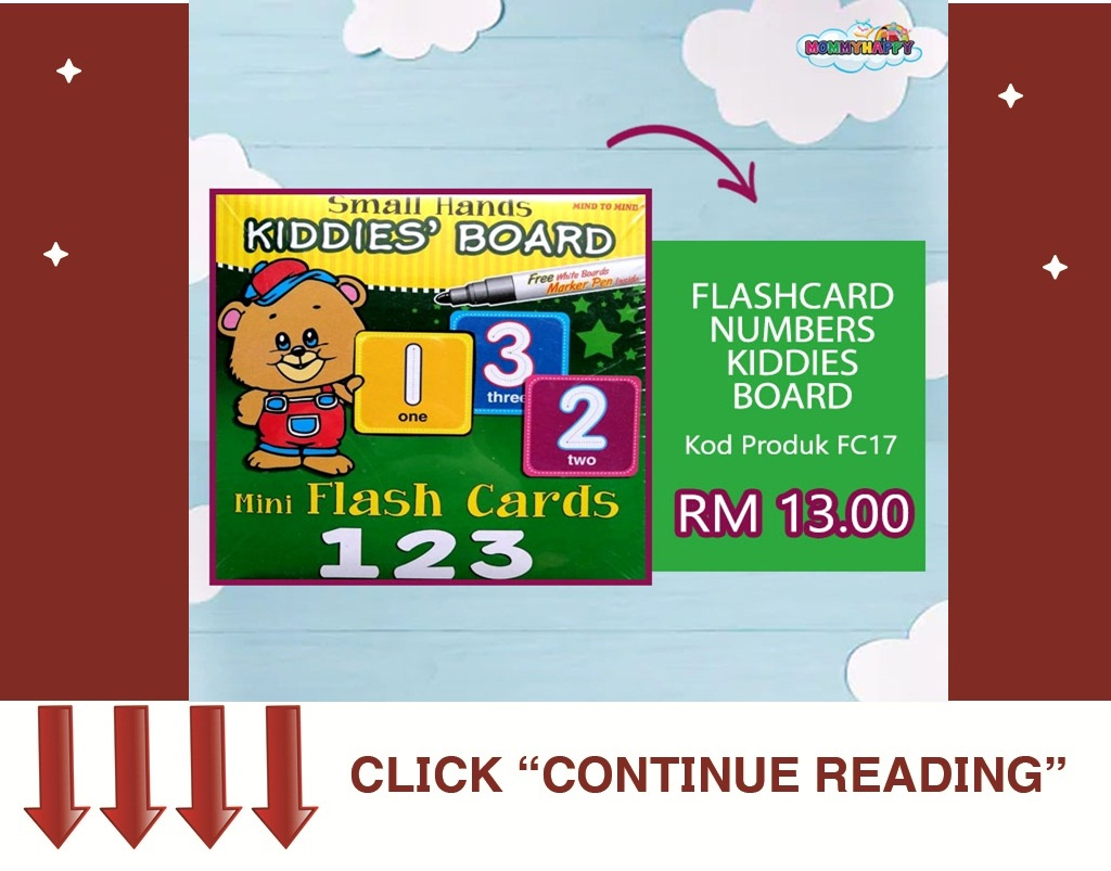 FC15-FLASHCARD NUMBERS KIDDIES BOARD