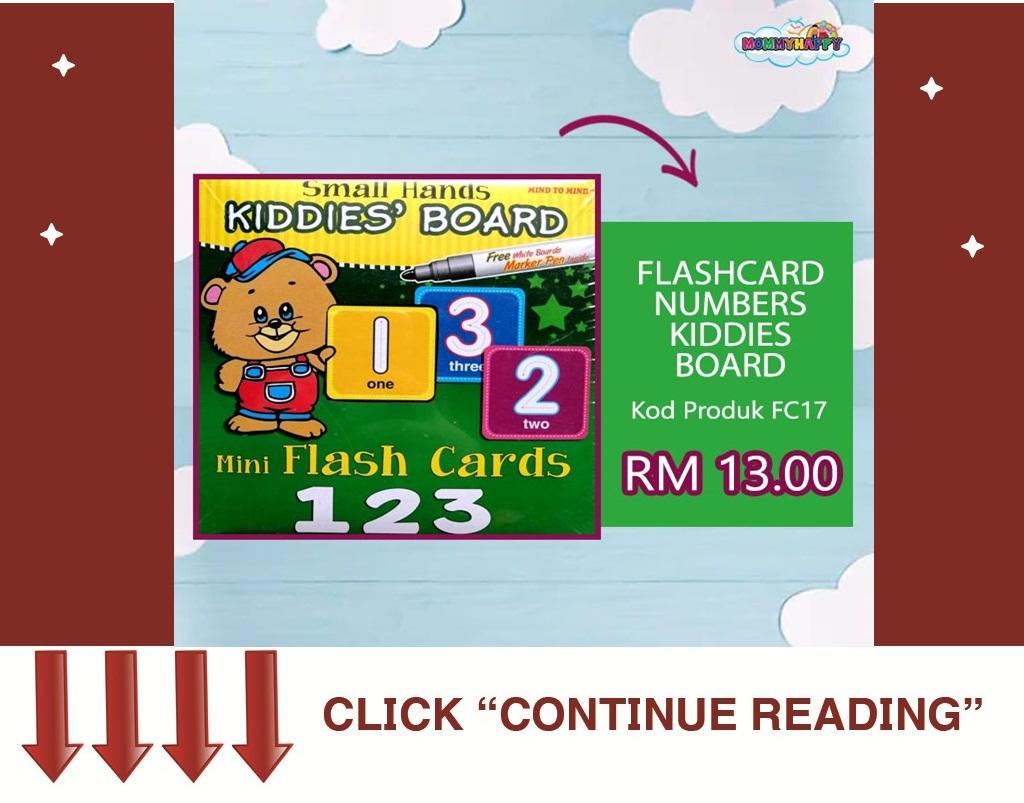 FC15-FLASHCARD NUMBERS KIDDIES BOARD
