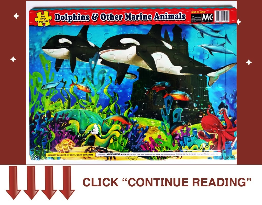 ET03- FUN WITH PUZZLES-DOLPHINS&OTHER MARINE ANIMALS