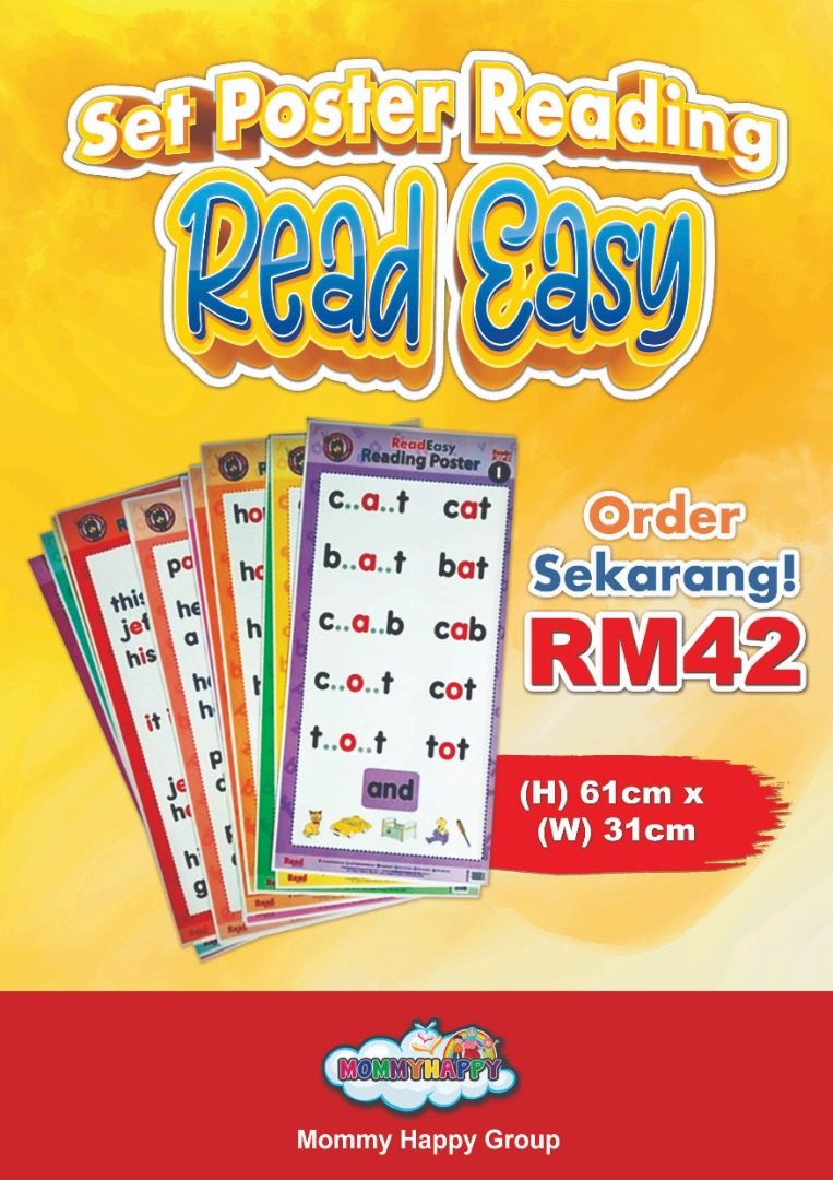 BK10-Set Poster Reading ReadEasy