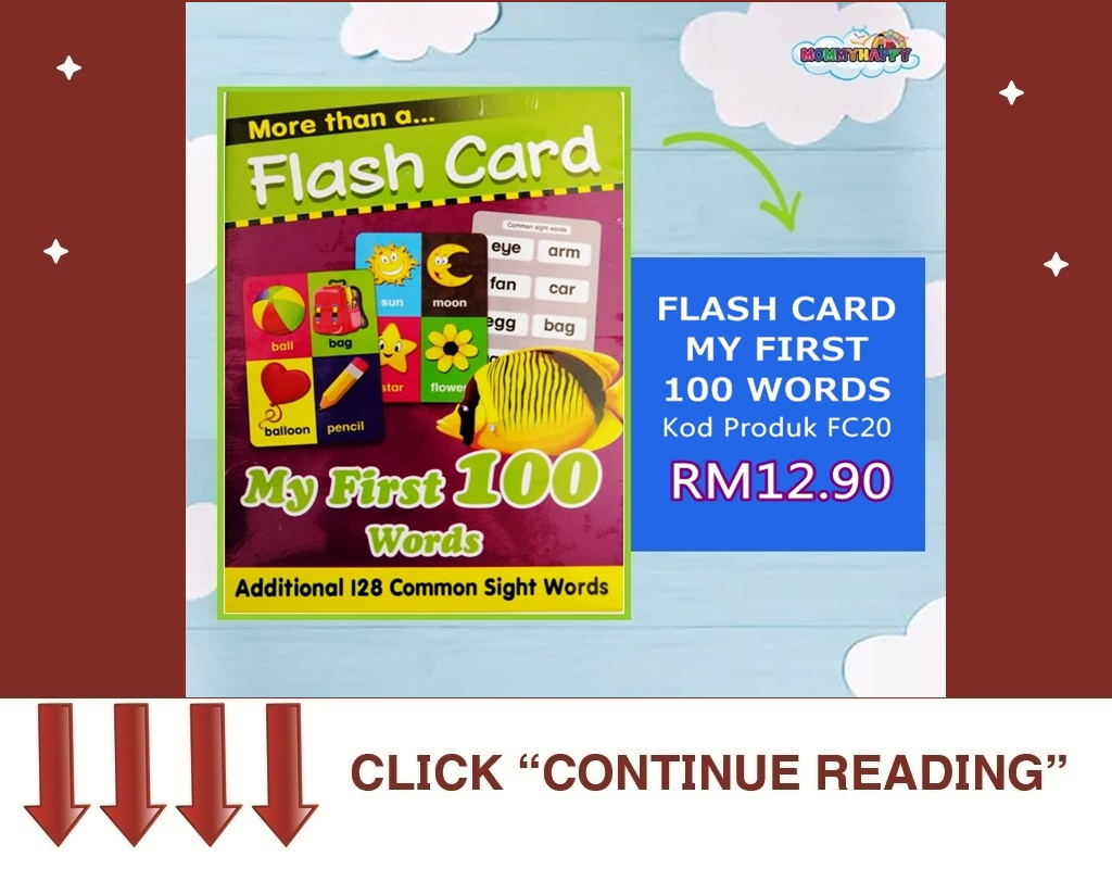 FC20- FLASH CARD MY FIRST 100 WORDS