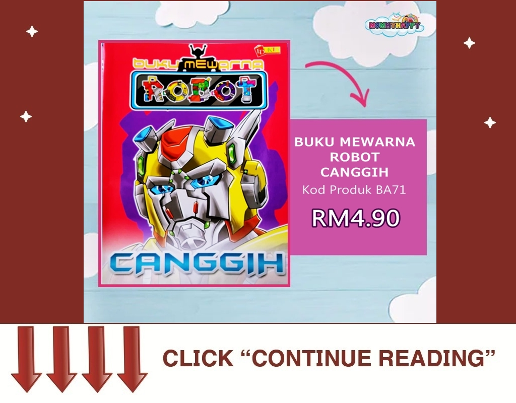BA71-BUKU MEWARNA ROBOT CANGGIH