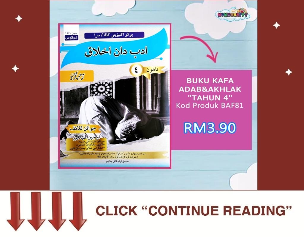 KAF29-BUKU KAFA ADAB & AKHLAK TAHUN 4
