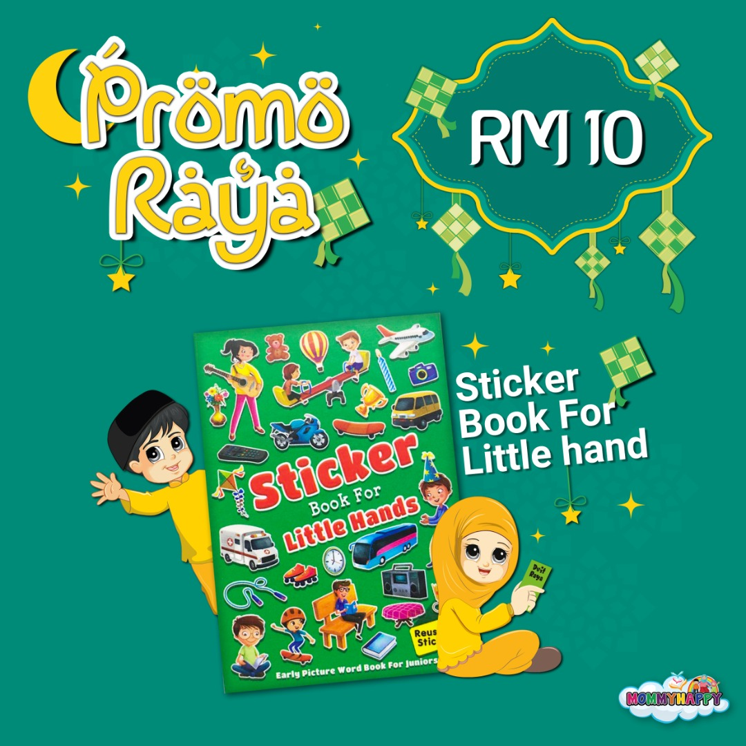 MAYRAYA10-STICKER BOOK FOR LITTLE HANDS GREEN