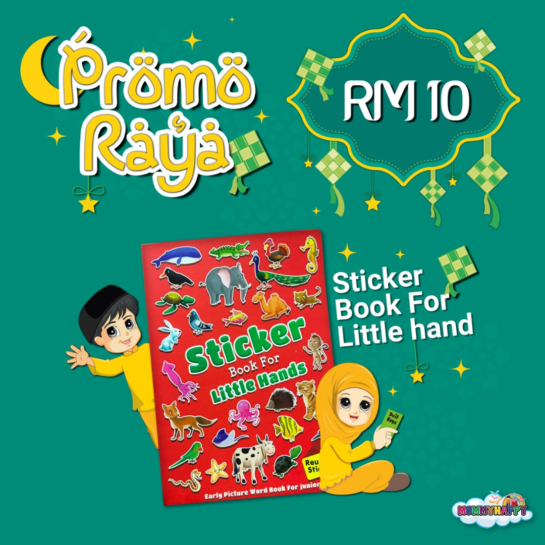 MAYRAYA08-STICKER BOOK FOR LITTLE HANDS RED