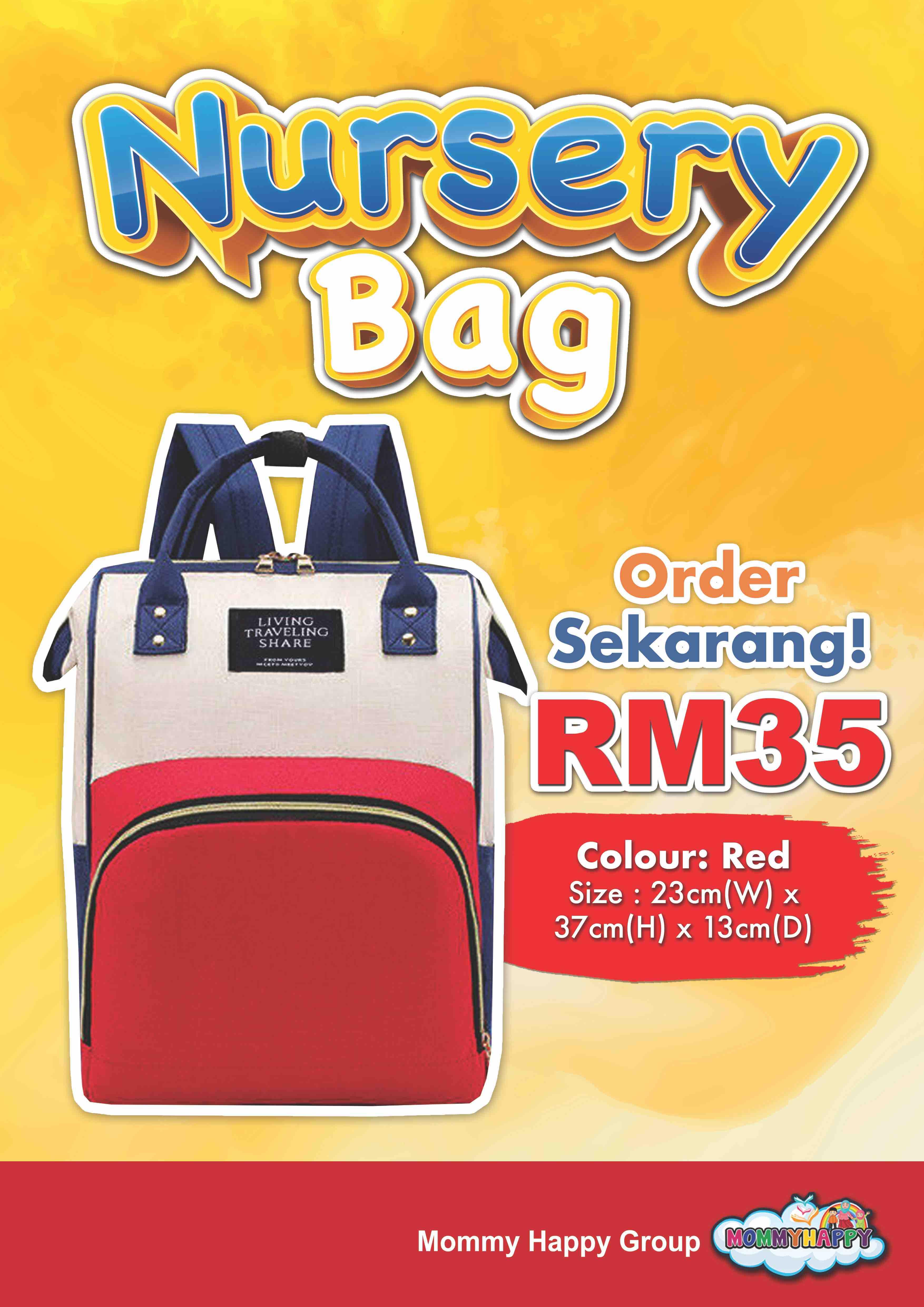 BAG04-NURSERY BAG – MERAH
