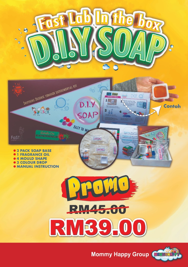 KIDSLAB01- LAB IN THE BOX D.I.Y SOAP