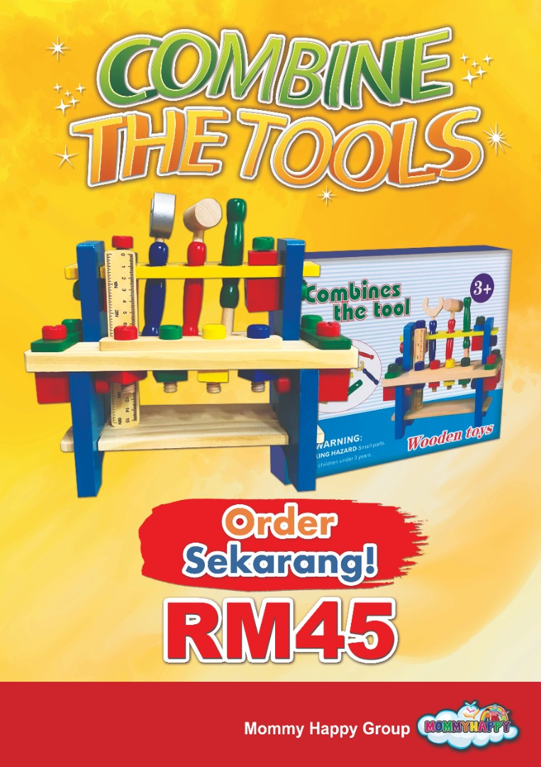 JUNET18-Combine the tools wooden toys