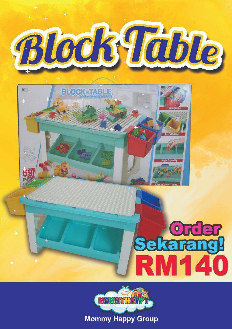 AUGET01 – BIG KIDS MULTIFUNCTIONAL BLOCKS TABLE