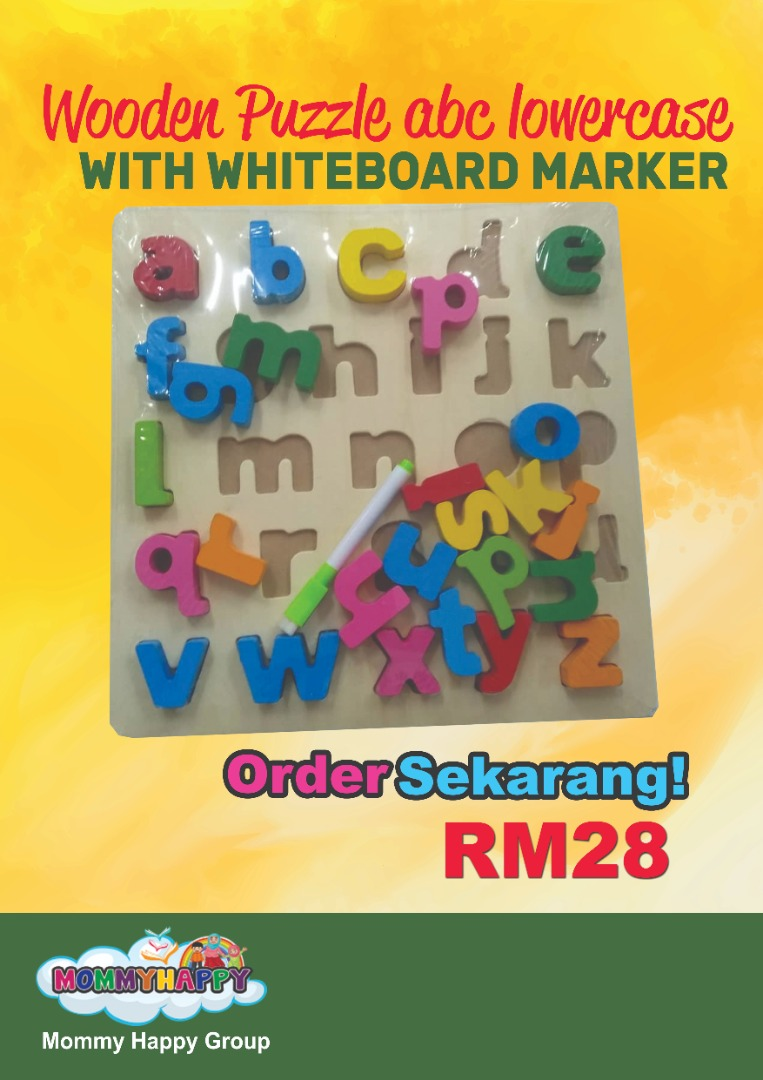 PME09 – Wooden puzzle abc lower case