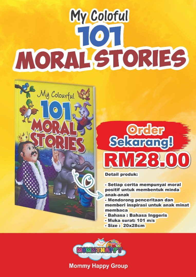 BK117-COLOURFULL 101 MORAL STORIES