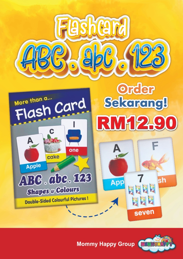 FC56- FLASH CARD ABC, abc, 123, Shapes & colours