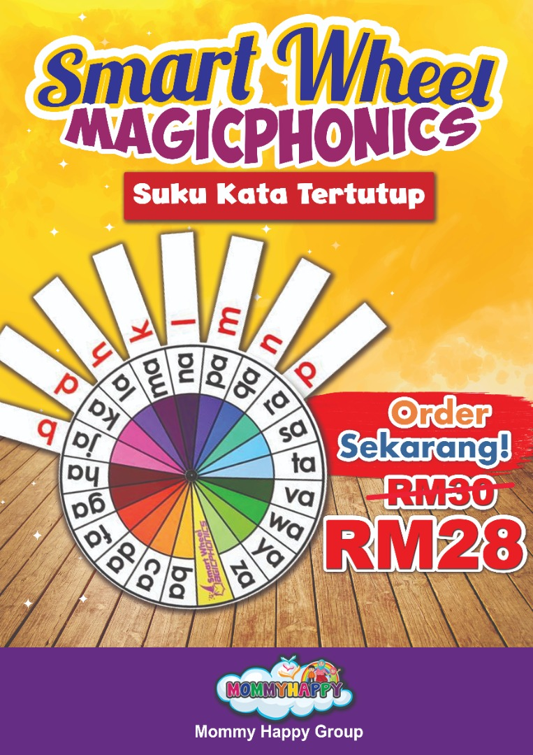 BK103- SMARTWHEEL MAGIC PHONIC SUKU KATA TERTUTUP