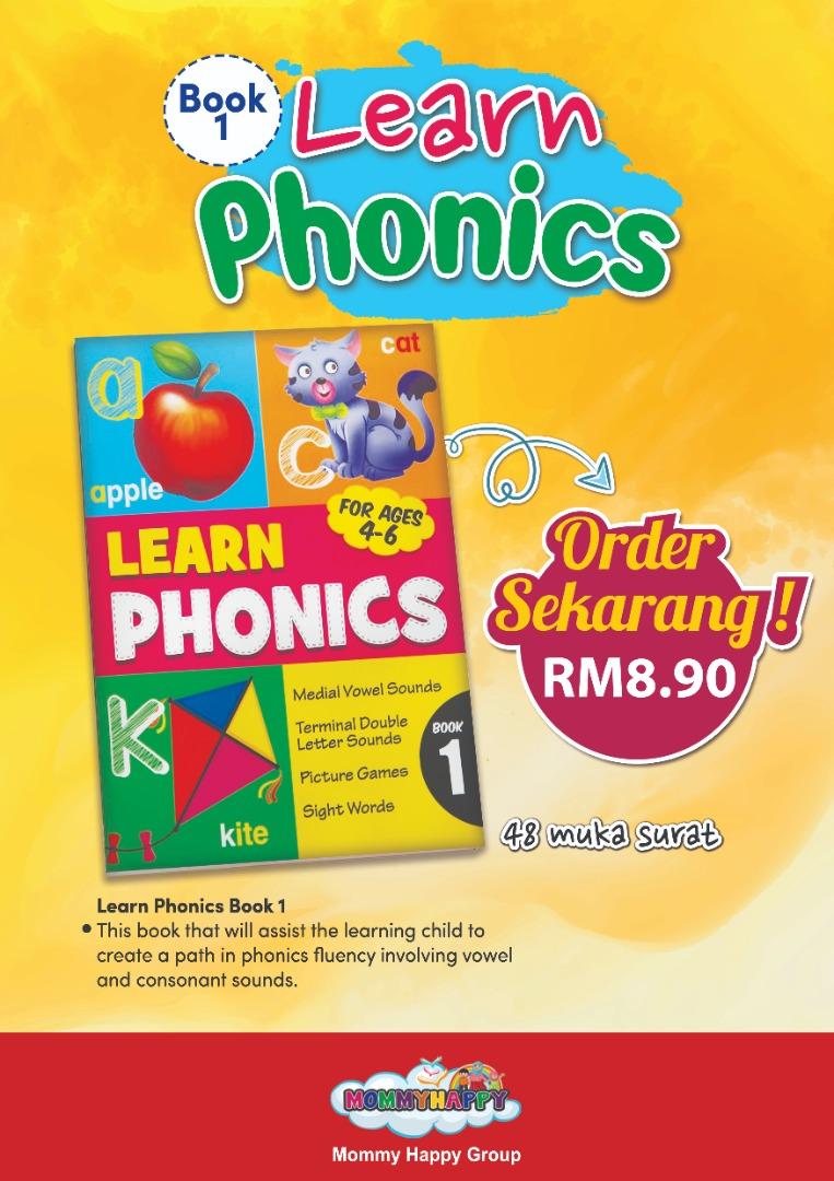 BK119 – BUKU LEARN PHONICS BOOK 1