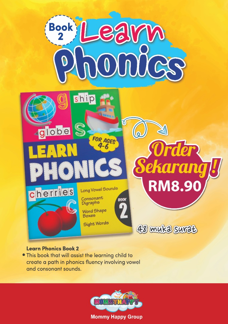 BK120 – BUKU LEARN PHONICS BOOK 2