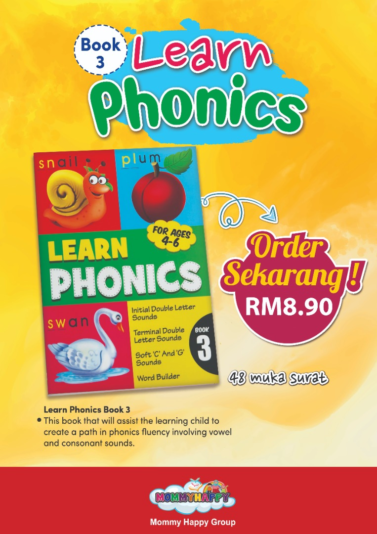 BK121 – BUKU LEARN PHONICS BOOK 3