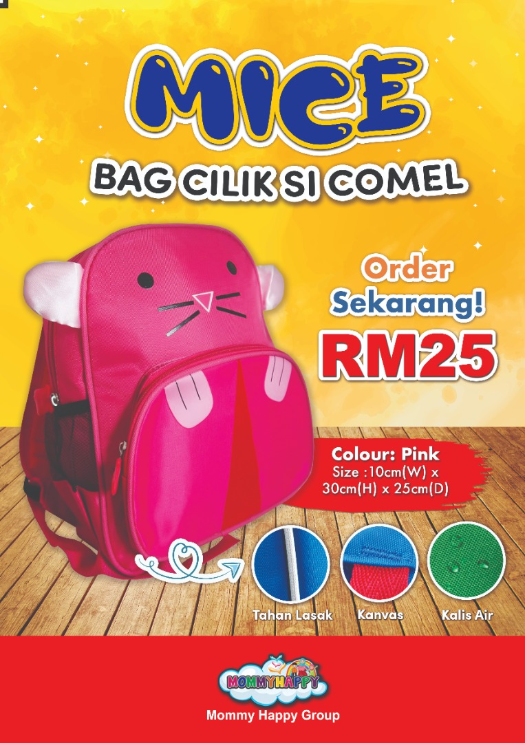 KIDSBAG03 – BAG CILIK SI COMEL DESIGN MICE