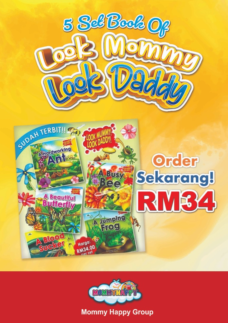 CI03-SET BUKU CERITA LOOK MUMMY! LOOK DADDY !