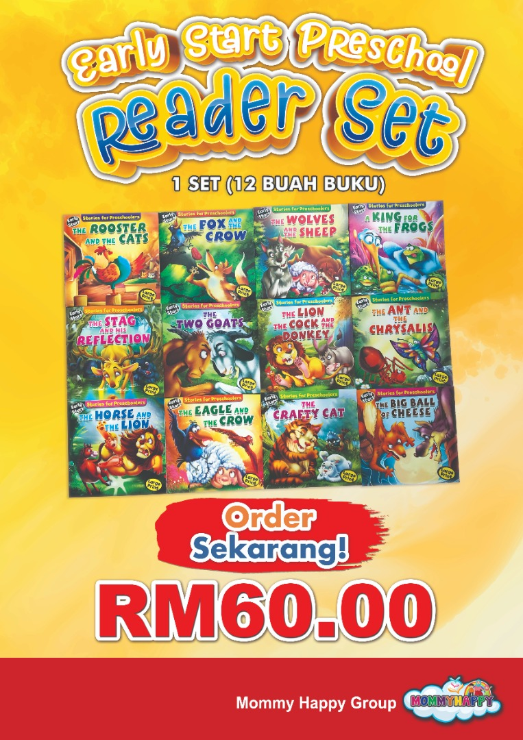 NOVBK02 – EARLY START PRESCHOOL READERS SET (12 BUKU)