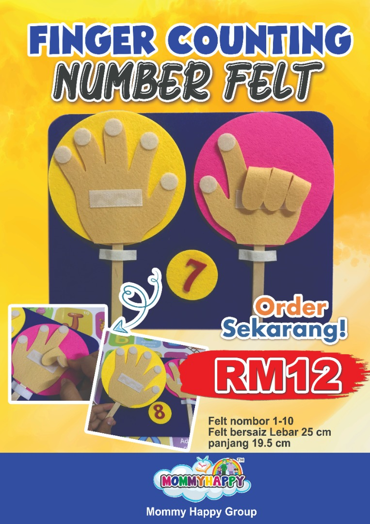 FINGER COUNTING NUMBER FELT