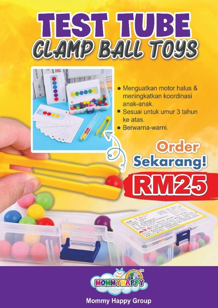 TEST TUBE CLAMP BALL TOYS